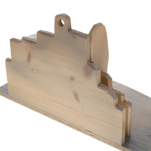 Presepe stilizzato in legno 10.5 cm 8