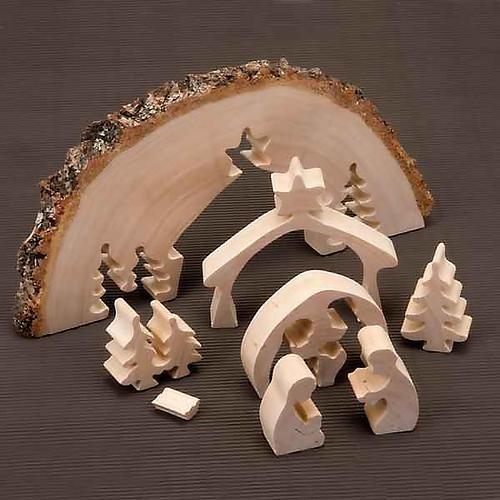 Presepe in legno ad incastro 2