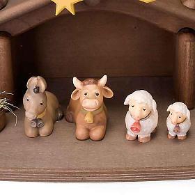 Presepe Bambini legno con magneti s3