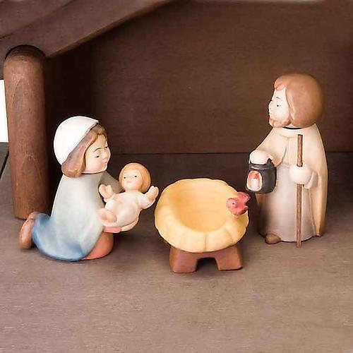 Presepe Bambini legno con magneti 5