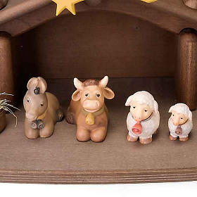 Children wooden crib with magnets s3