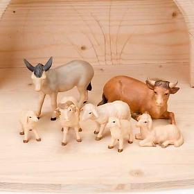 Stylised wooden nativity scene 14 cm s4