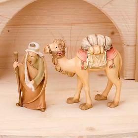 Stylised wooden nativity scene 14 cm s5