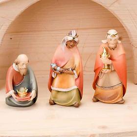 Stylised wooden nativity scene 14 cm s7