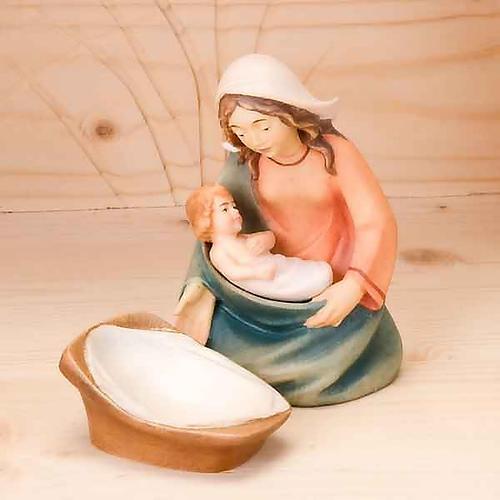 Stylised wooden nativity scene 14 cm 3