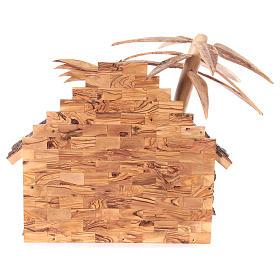 Bethleem olive wood crib 22cm s11