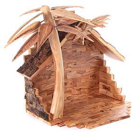 Szopka komplet ze stajenką 22 cm drewno oliwne Betlejem s7