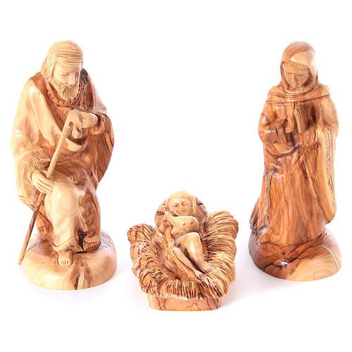 Szopka komplet ze stajenką 22 cm drewno oliwne Betlejem 2
