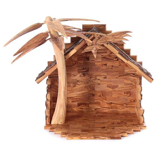 Szopka komplet ze stajenką 22 cm drewno oliwne Betlejem 3