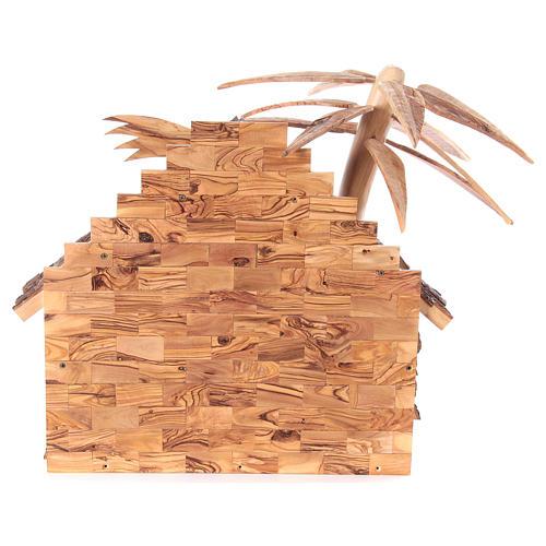 Szopka komplet ze stajenką 22 cm drewno oliwne Betlejem 11