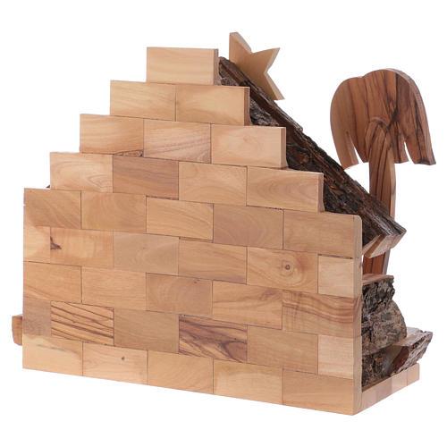 Crèche bois d'olivier Bethléem cm 7 8