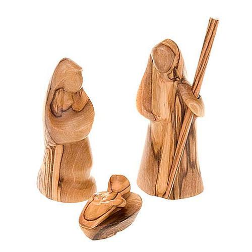 Crèche bois d'olivier de Bethléem cm 8 5