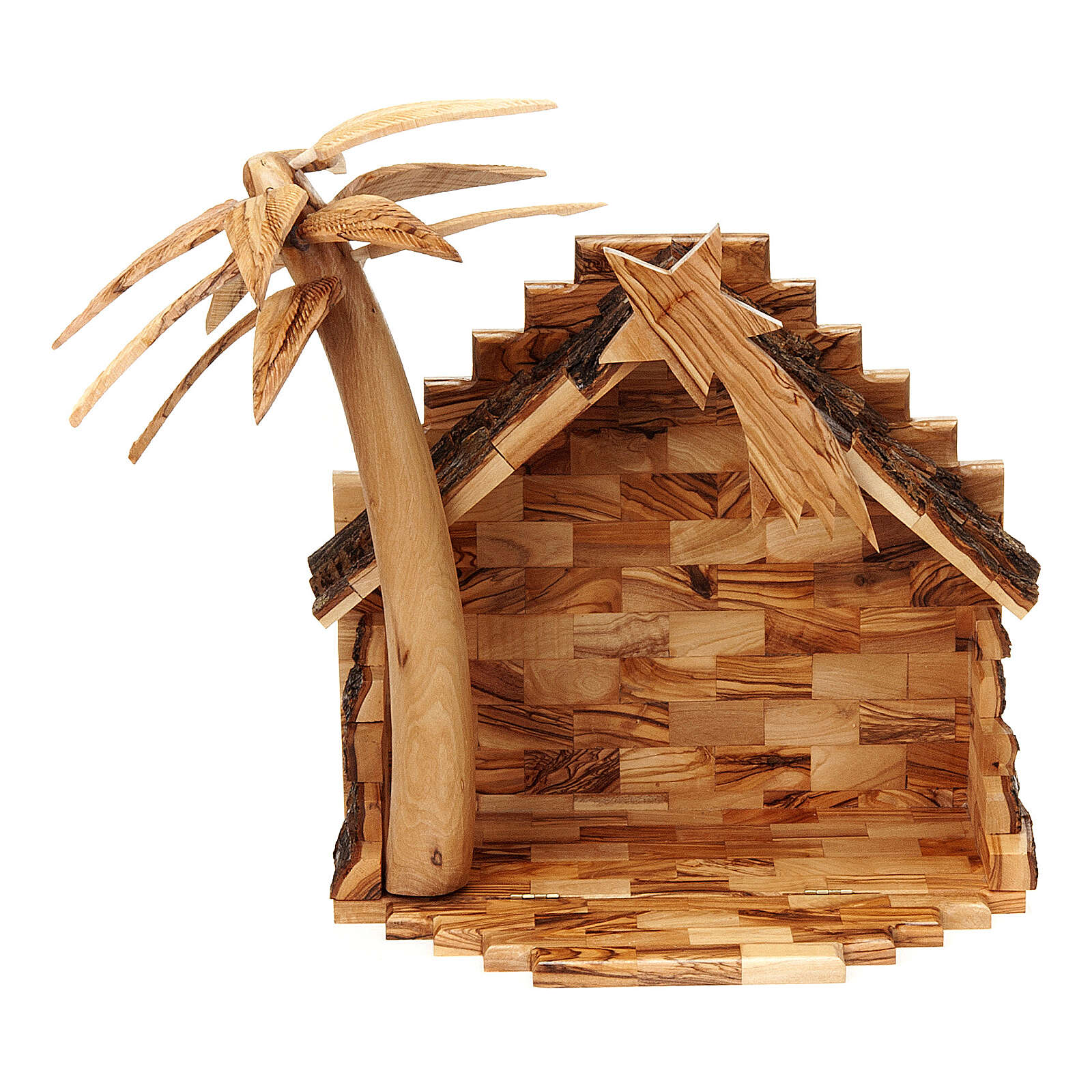 Szopka z drewna oliwnego Betlejem 15 cm 4