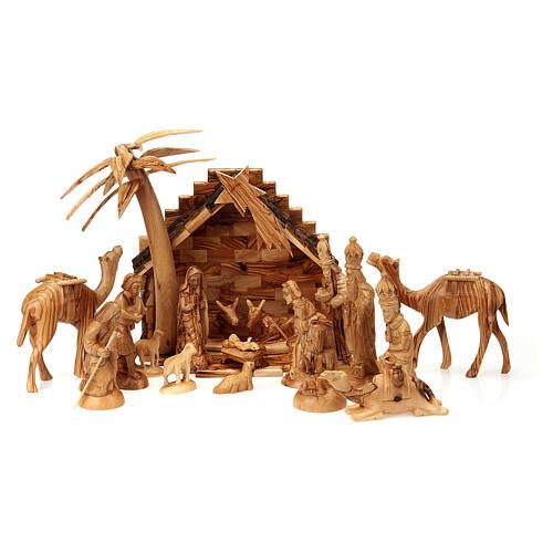 Szopka z drewna oliwnego Betlejem 15 cm 1