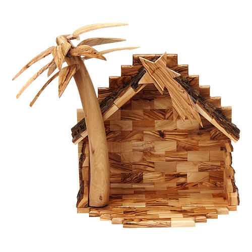 Szopka z drewna oliwnego Betlejem 15 cm 7