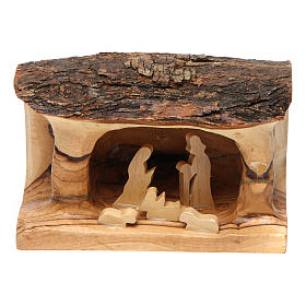 Olive wood Bethlehem nativity set s1