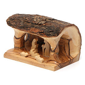 Olive wood Bethlehem nativity set s2