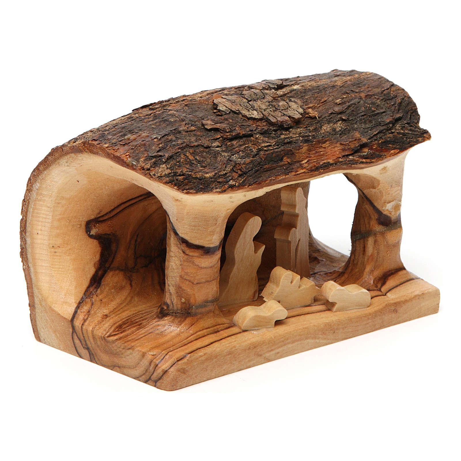 Crèche tronc bois d'olivier 4
