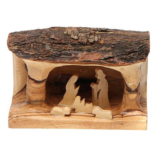 Crèche tronc bois d'olivier 1
