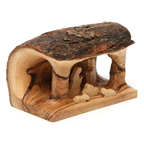 Crèche tronc bois d'olivier 3