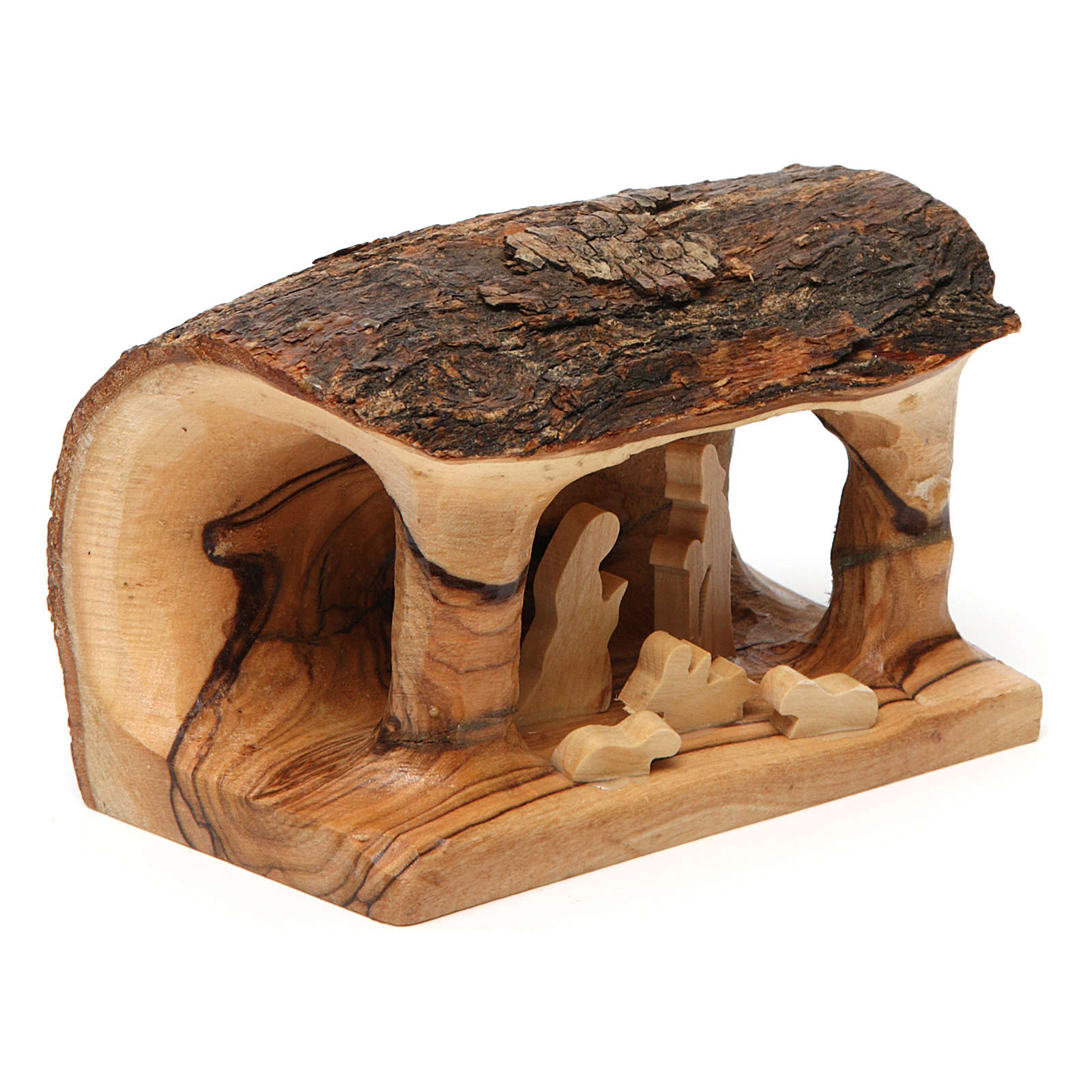 Olive wood Bethlehem nativity set 4