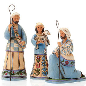 Mini blue Nativity resin 13.5 cm - Jim Shore s4