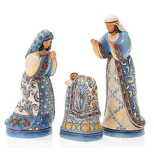 Mini blue Nativity resin 13.5 cm - Jim Shore 6