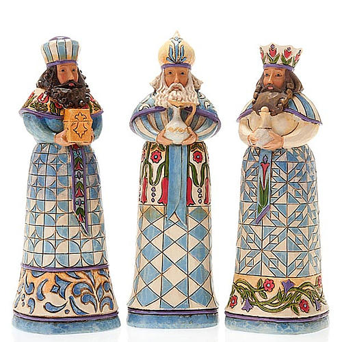 Pesebre resina 13,5 cmMini Blue Nativity 5