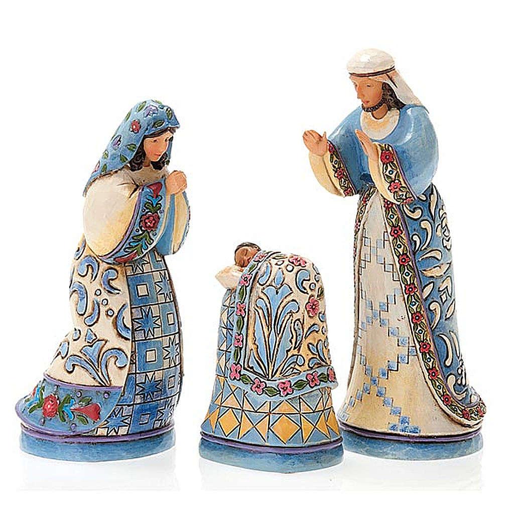 Crèche résine, 13.5 cm. Mini Blue Nativity 4