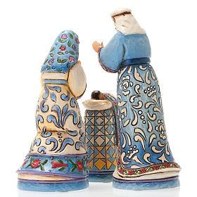 Crèche résine, 13.5 cm. Mini Blue Nativity s3