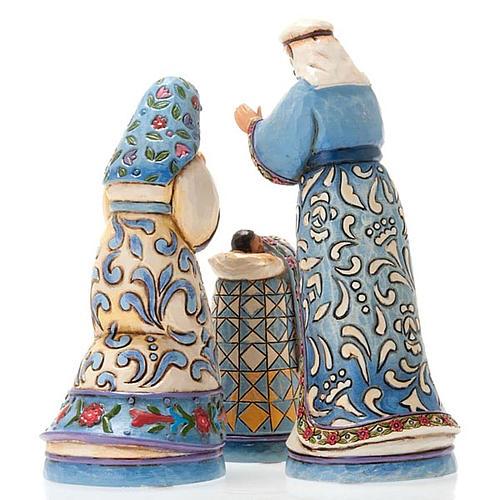 Crèche résine, 13.5 cm. Mini Blue Nativity 3