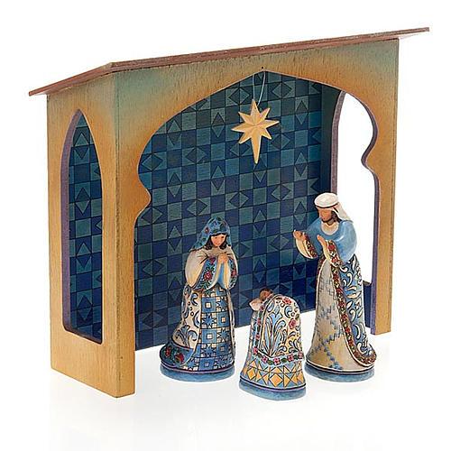 Crèche résine, 13.5 cm. Mini Blue Nativity 7