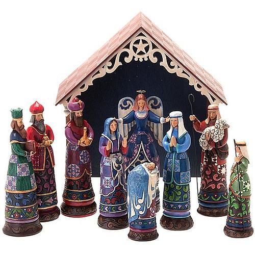 Crèche résine, 19 cm. Bethlehem's Miracle 1