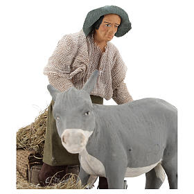 Animated nativity scene figurine, farrier at work 14 cm s2