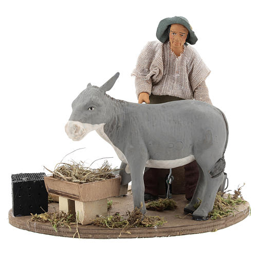 Animated nativity scene figurine, farrier at work 14 cm 1