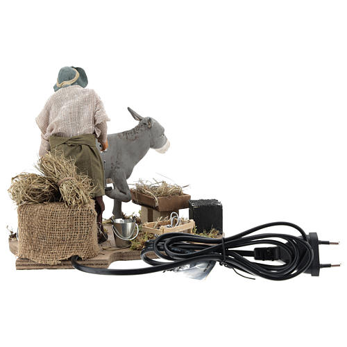 Animated nativity scene figurine, farrier at work 14 cm 5