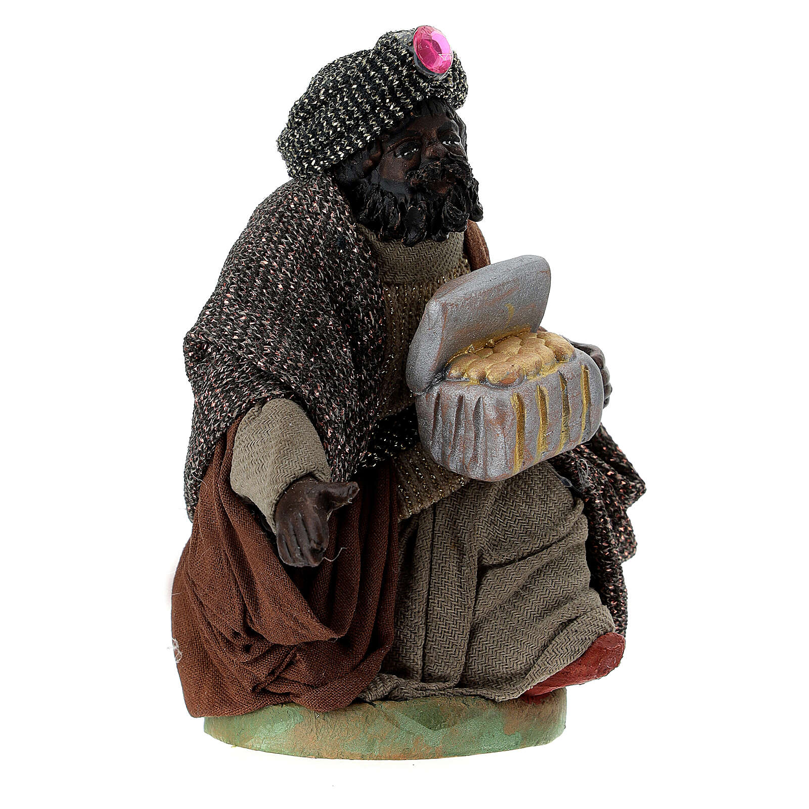 Nativity ser Three wise Kings 10 cm clay figurines 4