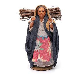 Mujer con leña 10 cm terracota s1