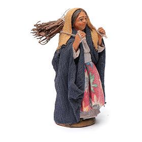 Mujer con leña 10 cm terracota s3