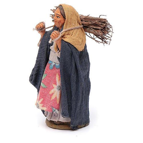 Donna con legna 10 cm terracotta 2