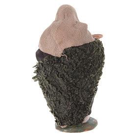 Paysan bossu 10 cm terre cuite s7