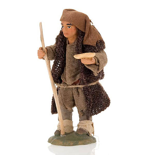 Nativity set accessory hunchbacked shepherd 10 cm clay figurine 1