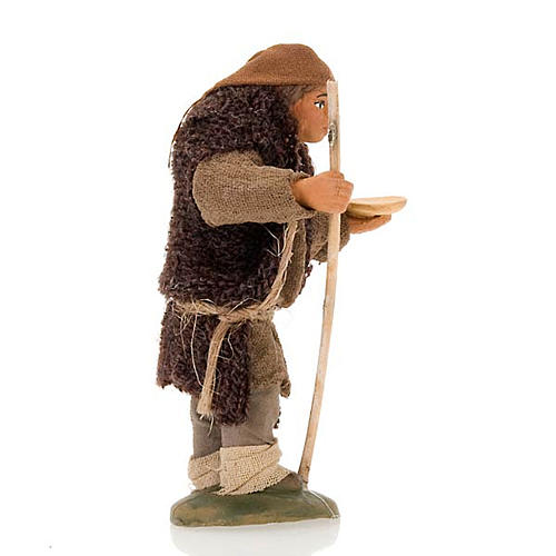 Nativity set accessory hunchbacked shepherd 10 cm clay figurine 2