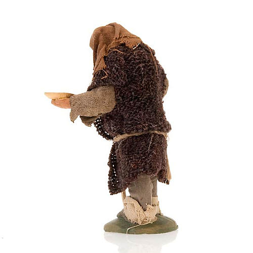 Nativity set accessory hunchbacked shepherd 10 cm clay figurine 3