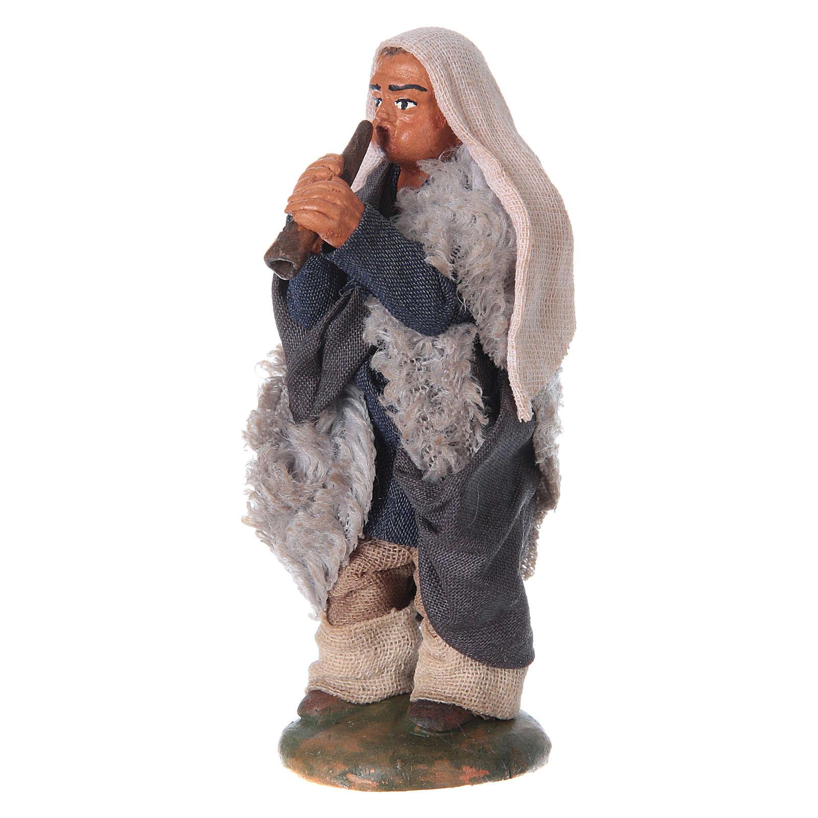 Nativity set accessory fifer 10 cm clay figurine 4