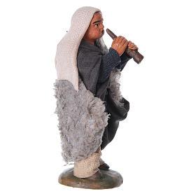 Nativity set accessory fifer 10 cm clay figurine s3
