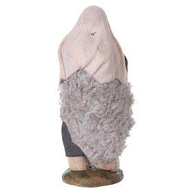Nativity set accessory fifer 10 cm clay figurine s6