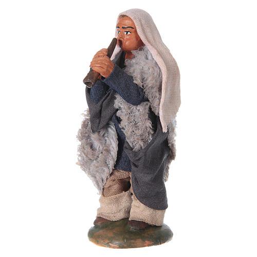 Nativity set accessory fifer 10 cm clay figurine 2