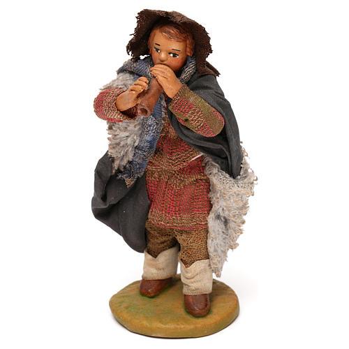 Nativity set accessory fifer 10 cm clay figurine 7
