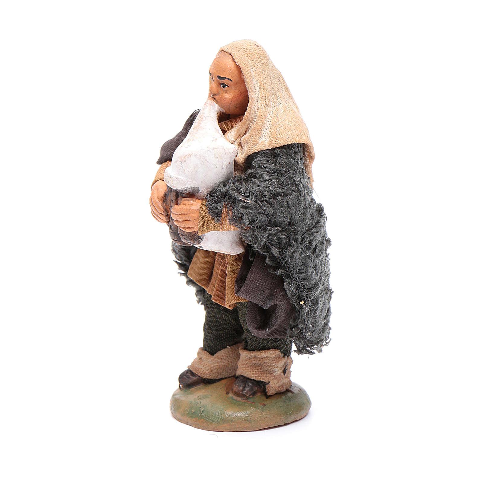 Nativity set accessory Piper 10cm clay figurine 4